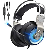 Mpow Gaming Headset Xbox One Headset with 7.1 Surround Sound, PC PS4 Headset with Noise Canceling Mic & LED Light…