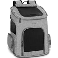 Ytonet Dog Backpack, Pet Carrier Bag with Mesh for Small Dogs Cats Puppies, Comfort Cat Backpack Bag Airline Approved…