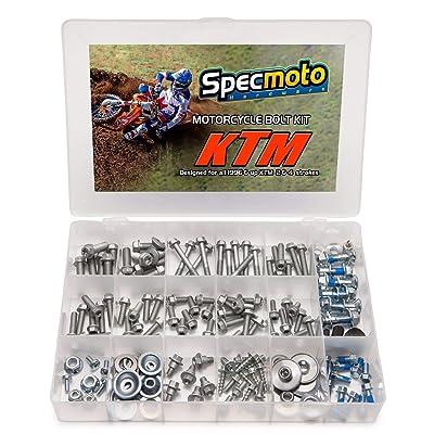 Specmoto Hardware Brand Bolt Kit Euro Type. Fits: KTM & Husqvarna Model Series Dirt Bike (1996-present): Home Improvement