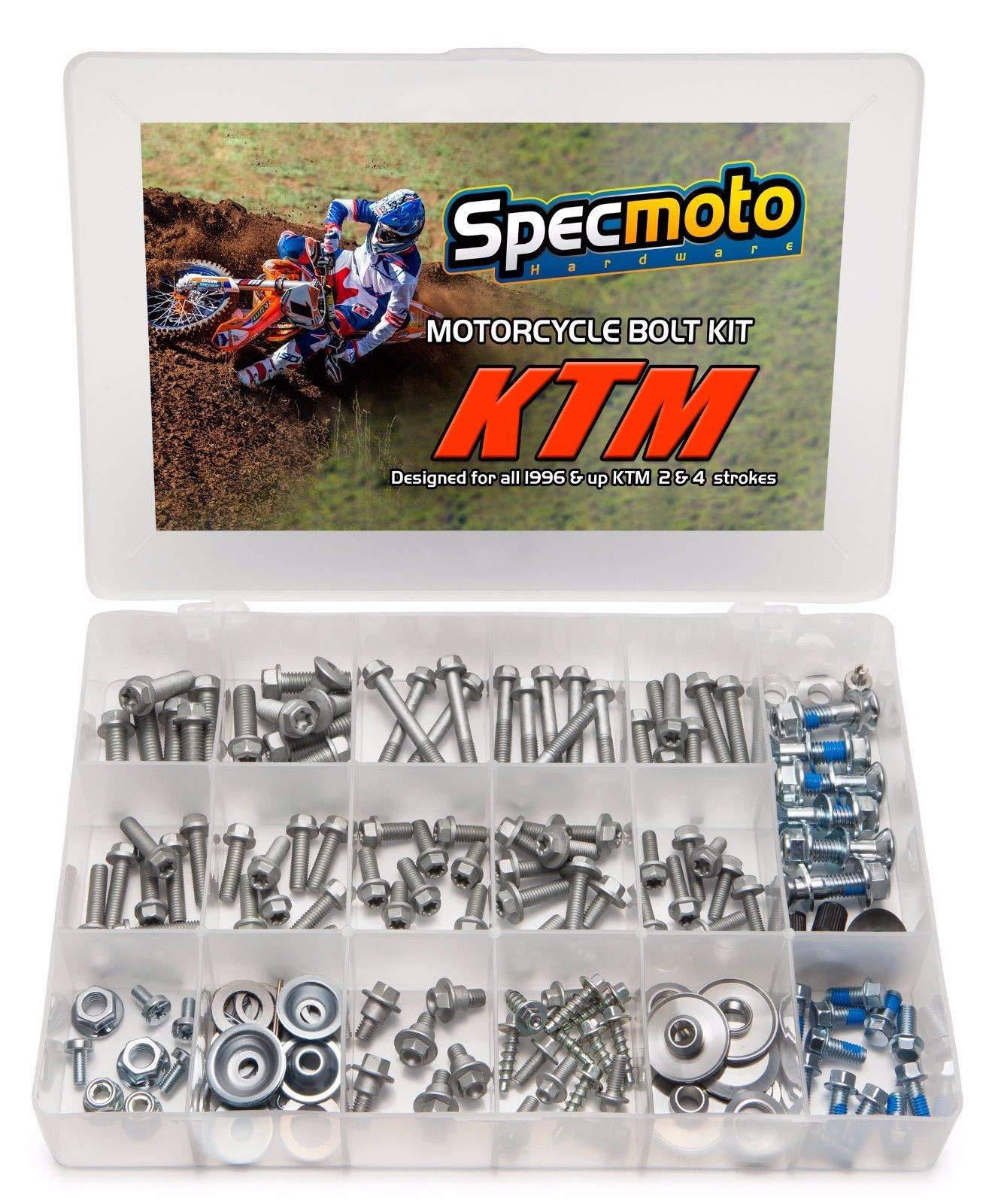 Specmoto Hardware KTM Bolt Kit: SX   EXC   XC-F   SX-F   XC Model Series Dirt Bike (1996-present)