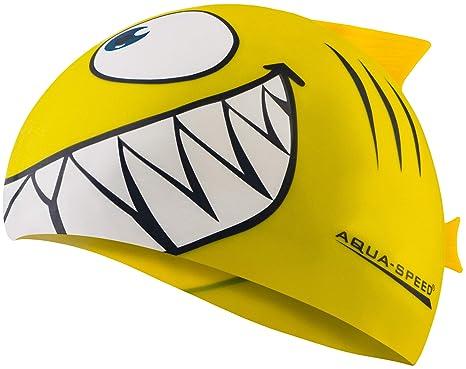 474d1e96e0a6 Aqua Speed Shark - Cuffia da nuoto per bambino, 100% silicone, elastica e