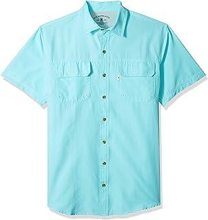 2159fae796b G.H. Bass & Co. Men's Big and Tall Explorer Short Sleeve Button Down Fishing  Shirt
