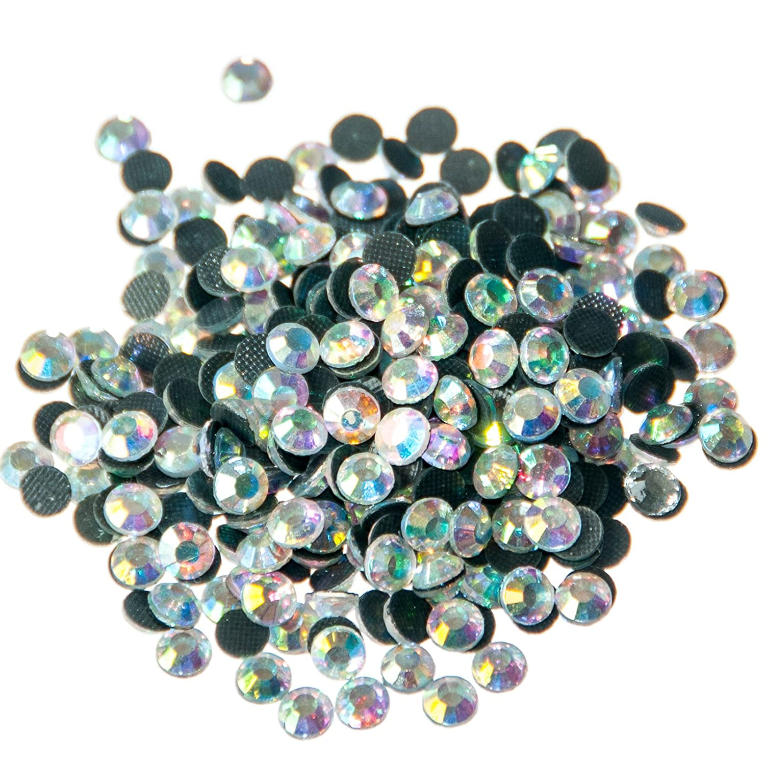 Pack of 500 x AA Grade Crystal AB Hotfix Rhinestone Diamante Gems Size SS20 (5mm) Busy Bead
