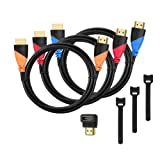 Amazon Price History for:High-Speed HDMI Cable(3 Pack)-6ft with Gold Plated Corrosion Resistant Connectors, Bonus Right Angle Adapter and Cable Tie, Support Ethernet, 3D,1080P and Audio Return Channel