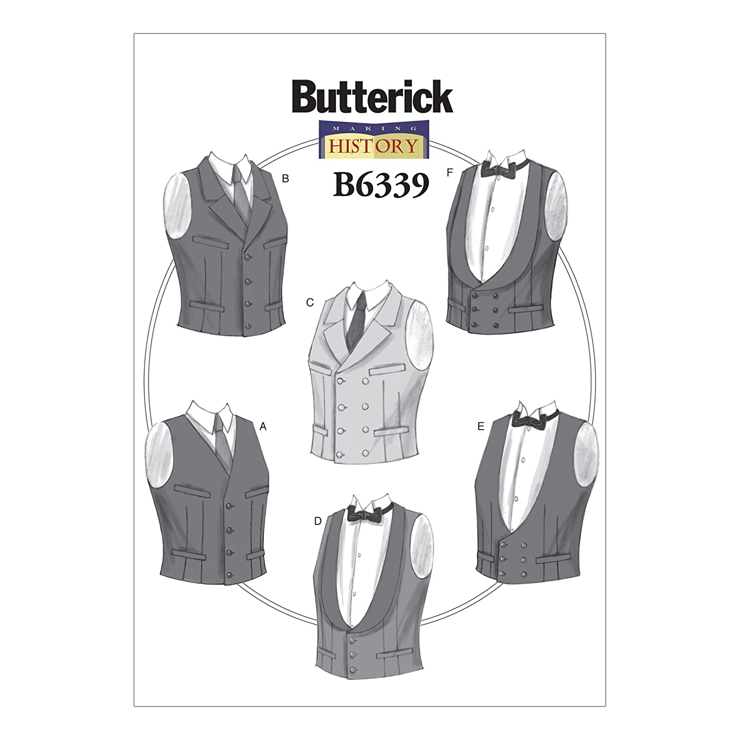 Victorian Sewing Patterns- Dress, Blouse, Hat, Coat, Mens Mens Single or Double-Breasted Vests XM (Small-Medium-Large) $12.50 AT vintagedancer.com