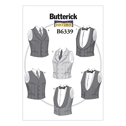 Victorian Sewing Patterns- Dress, Blouse, Hat, Coat, Mens Single or Double-Breasted Vests XM (Small-Medium-Large) $9.72 AT vintagedancer.com