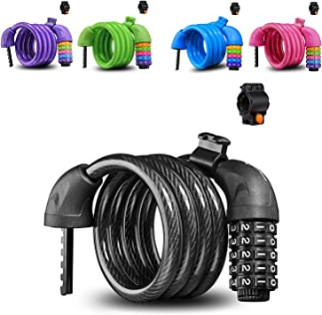Colorido candado para bicicletas de gran seguridad, cable de ...