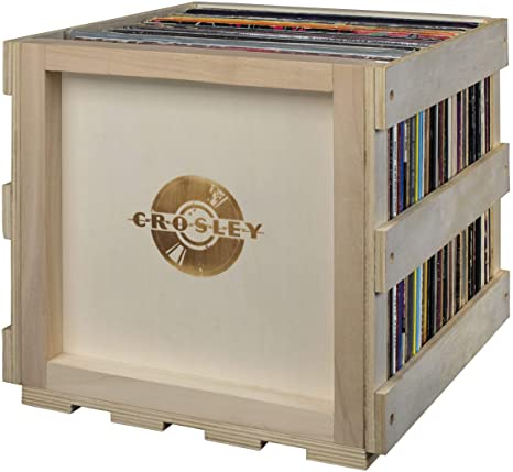 Charmant Amazon.com: Crosley AC1017A NA Stackable Record Storage Crate Holds Up To  70 Albums, Natural: Electronics