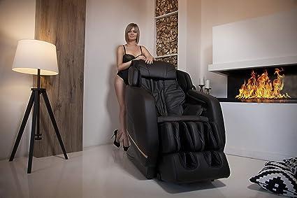 Poltrona da massaggio massaggiante professionale, zero Gravity (nero ...