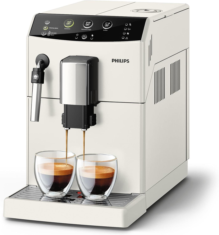 Philips súper automática HD8827/12 3000 series-Cafetera (Independiente, Máquina espresso, 1,8 L, Granos de café, Molinillo integrado, Blanco), 1.8 litros, Plástico: Amazon.es: Hogar