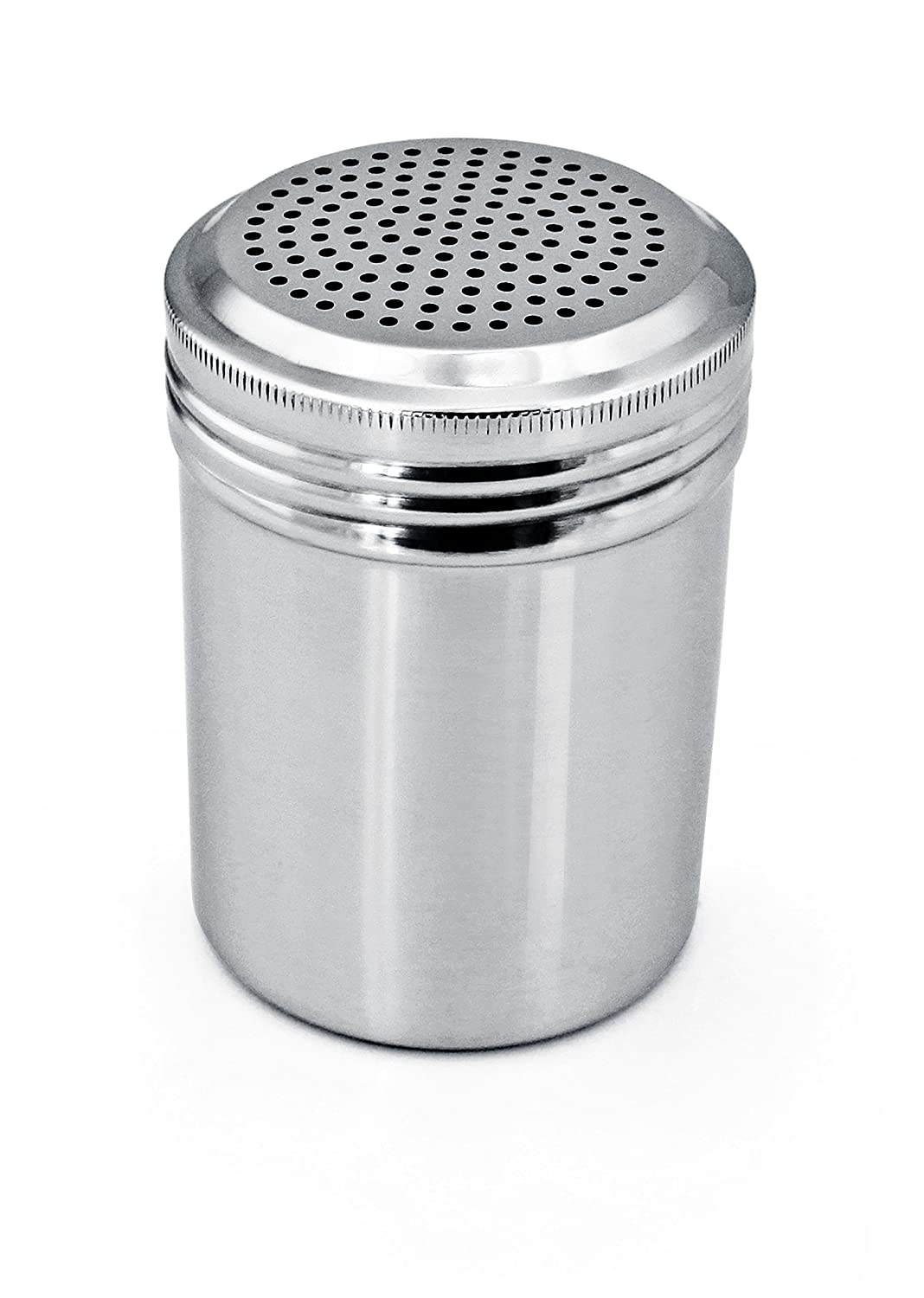 New Star Foodservice 28478 Stainless Steel Dredge Shaker, 10-Ounce, Set of 2