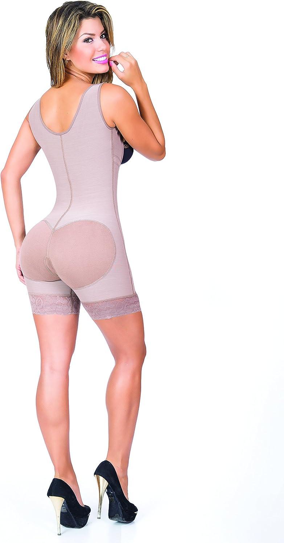 Zipper Let It Glow MID Thigh Powernet Body Shaper Suit