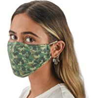 Slumbies! Cloth Face Coverings for Women & Men - Washable Face Coverings - Reusable Face Coverings - Flexible Nose Bridge - Adjustable Ear Bands - 5 Layer Filters Included - Camo