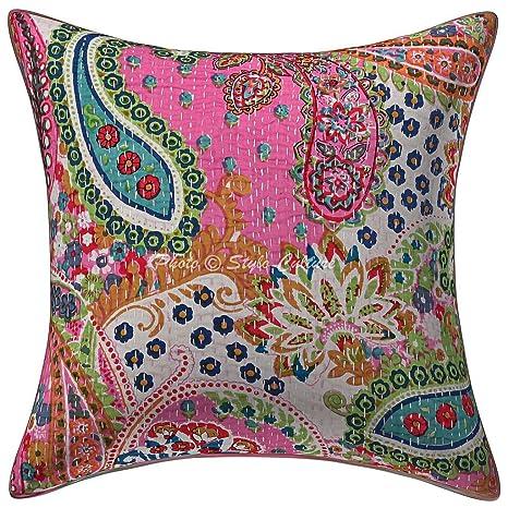 Amazon.com: Stylo Culture Cotton Decorative Throw Pillow ...
