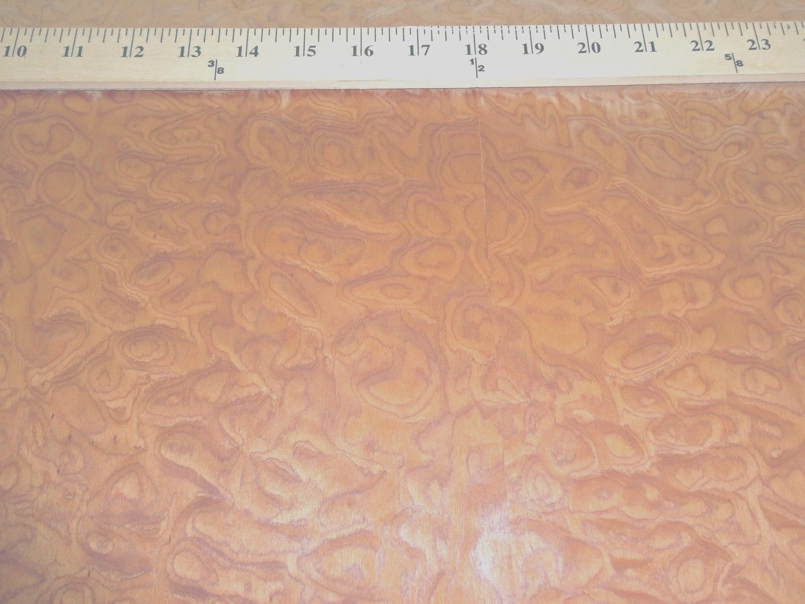 Sapele Pommele Figured Quilted Burl composite wood veneer 24'' x 96'' raw 1/42''