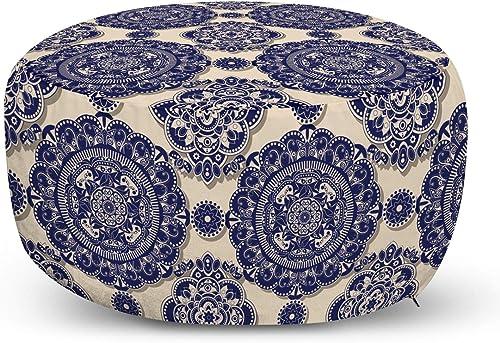 Ambesonne Mandala Ottoman Pouf