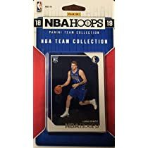 Dallas Mavericks 2018 2019 Hoops Factory Sealed 10 Card Team Set with Dirk Nowitzki and Rookie Cards of Jalen Brunson and Luka Doncic Plus