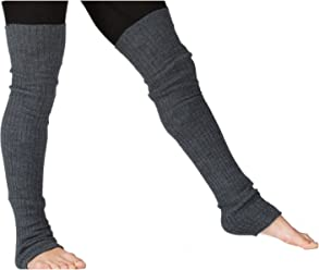 fe3b08f791928 Charcoal Men's Leg Warmers 30 Inch Thigh High Stretch Knit Ribbed KD dance  New York Made