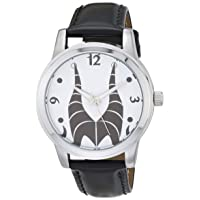 Women's Villains Analog Quartz Watch with Patent Leather Strap, Black, 18 (Model: WDS000895)