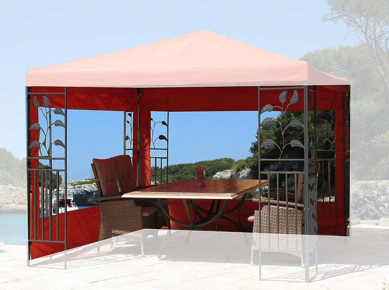 QUICK STAR - 2 Paredes Laterales para cenador (3 x 3 m), Color Naranja: Amazon.es: Jardín