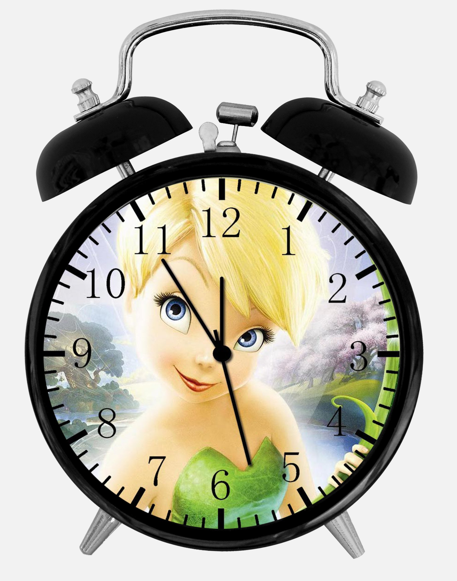 New Little Fairies Tinkerbell Alarm Desk Clock 3.75'' Room Decor X56 Will Be a Nice Gift