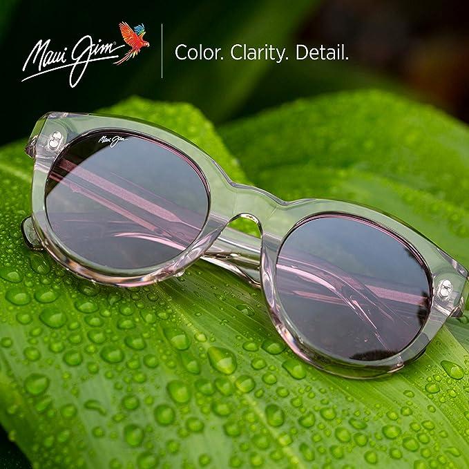 82ebef5d5e Amazon.com: Maui Jim Jasmine HS738-10K   Polarized Koa Tortoise Fashion  Frame Sunglasses, HCL Bronze Lenses, with with Patented PolarizedPlus2 Lens  ...