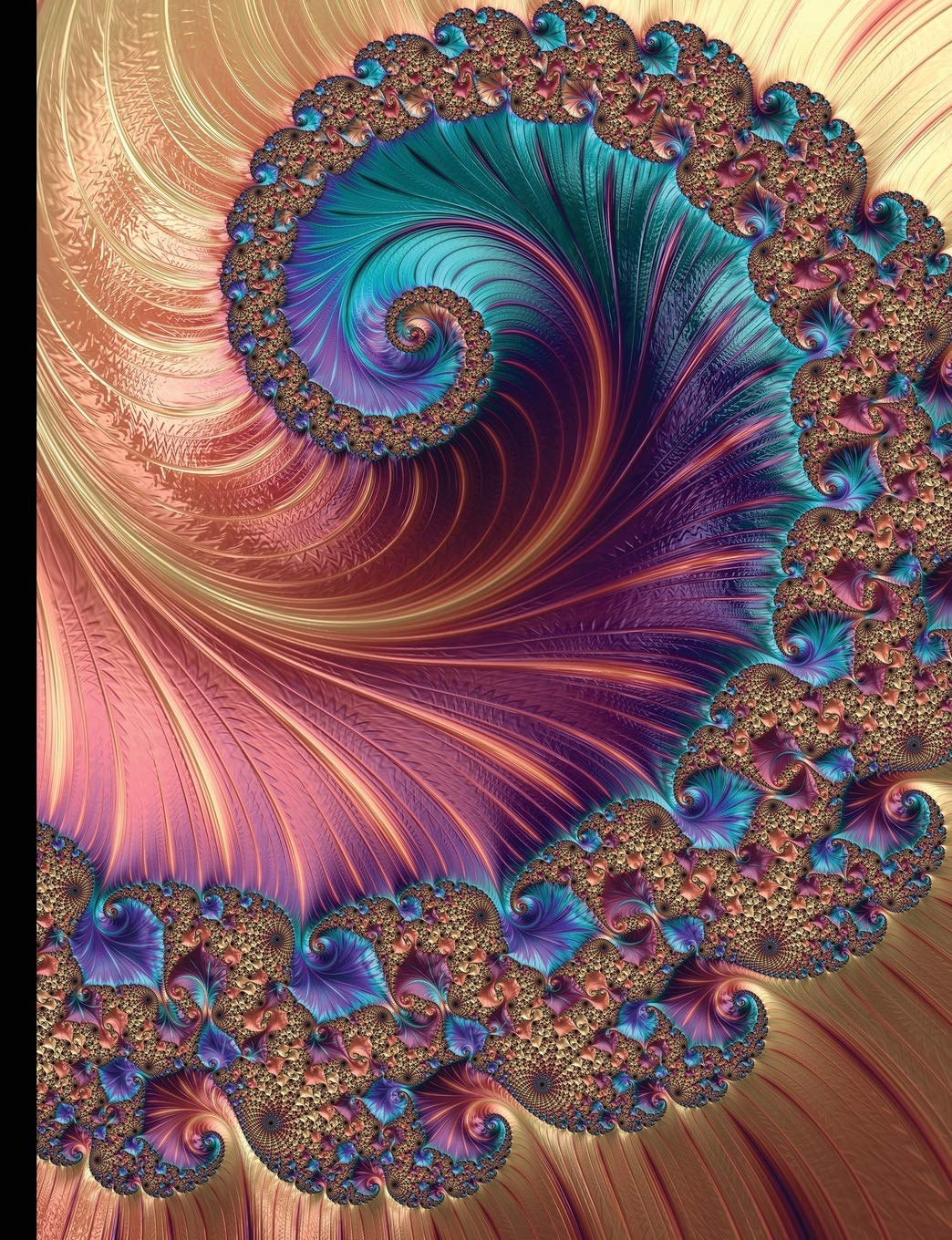 Composition Notebook - College Ruled, 100 Sheets: Mandelbrot ...
