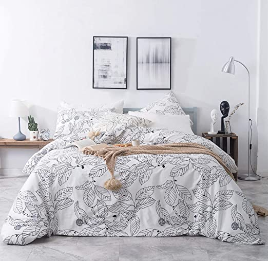 Amazon Com Susybao 3 Piece Duvet Cover Set 100 Natural Cotton