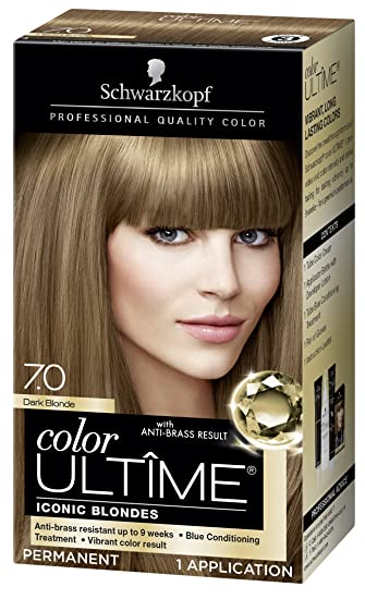 Schwarzkopf Color Ultime Hair Color Cream, 7.0 Dark Blonde (Packaging May  Vary)