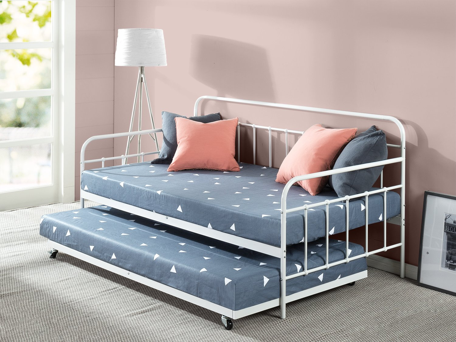 Zinus Florence Twin Daybed and Trundle Frame Set / Premium Steel ...