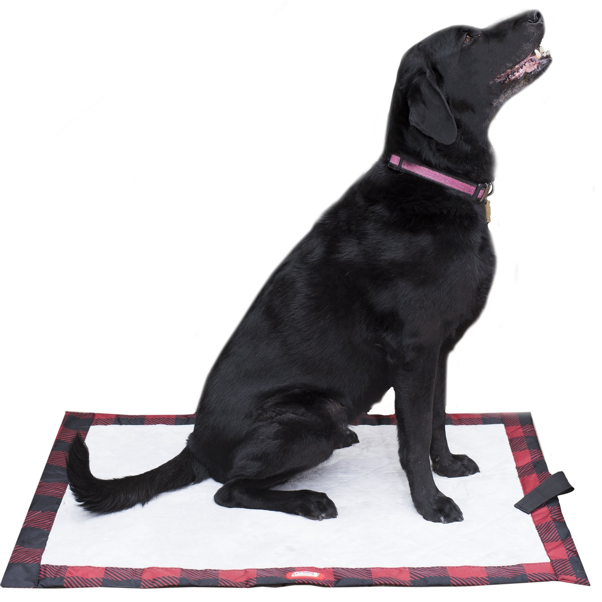 Coleman Dog Quilted Plush Travel Pet Mat, Red Plaid, 27'' x 36'''