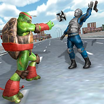 Incredible Ninja Street Turtle Fight : unbrand sword freedom survival battle captain rescue mission of flying newyork city end War game street ...