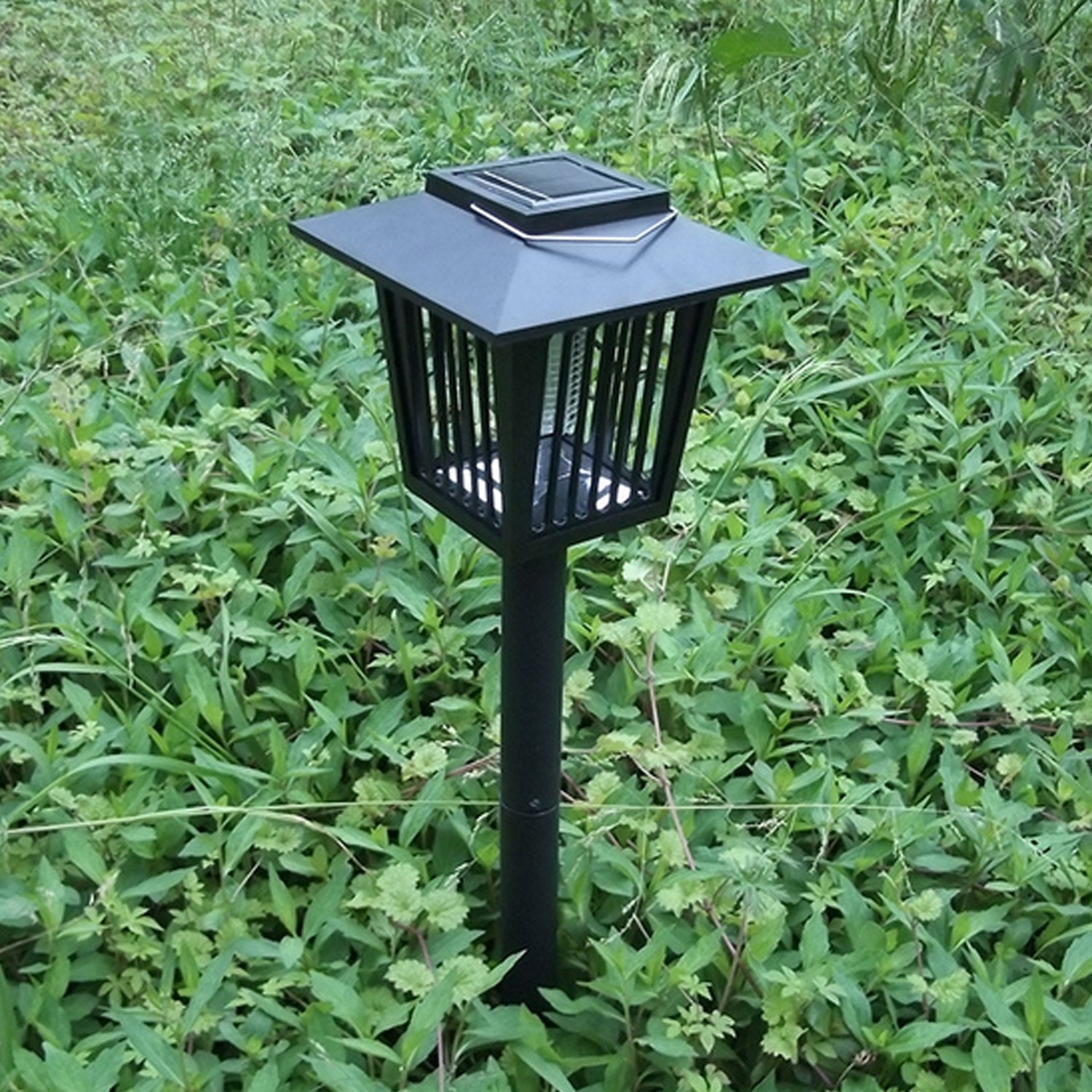 Solar Powered Bug Zapper Light, Solar Mosquito Killer Insect Killer Indoor Outdoor Fly Pest Trap Lamp Portable Garden Lawn Light For Garden, Patio, Outdoor Ground Residential, Commercial and Industri by THE SAFETY ZONEY (Image #4)
