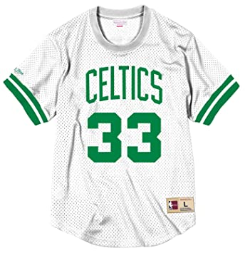 Mitchell & Ness Larry Bird Boston Celtics Gorra de los hombres de malla jersey camiseta,