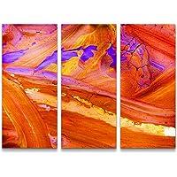 Paul Sinus Art - Quadro Astratto su Tela, Pronto da Appendere, Colore: Rosso