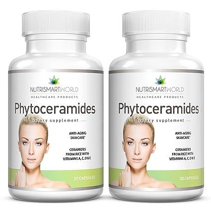 Phytoceramides antienvejecimiento del arroz 100mg. Enriquecido con vitaminas antioxidantes A, C, D y