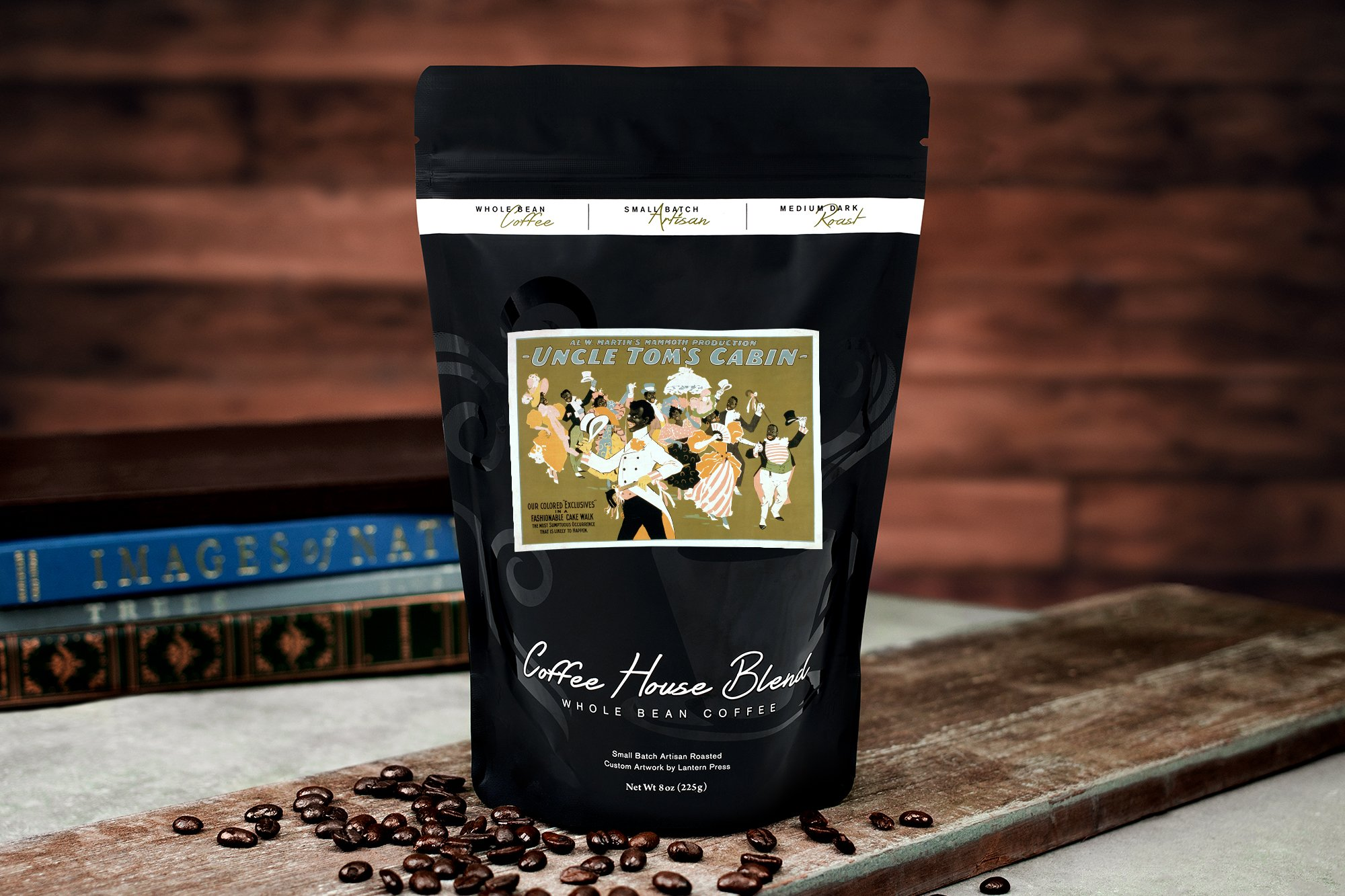 Uncle Tom's Cabin - African American Dance Party Poster (8oz Whole Bean Small Batch Artisan Coffee - Bold & Strong Medium Dark Roast w/Artwork) by Lantern Press (Image #2)
