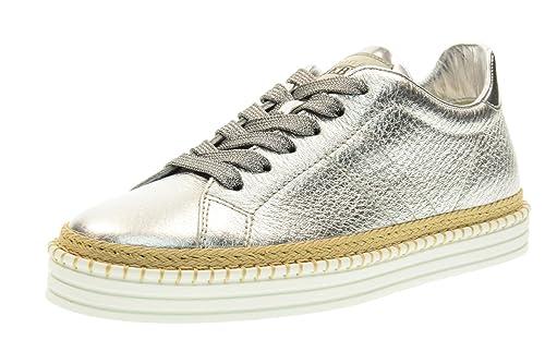 negozio online aef54 7426a Hogan Rebel Scarpe Donna Sneakers Basse HXW2600U560FMTB200 R260