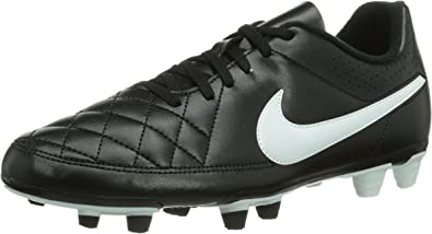 Nike Tiempo Rio II FG, Chaussures de Football Homme Noir