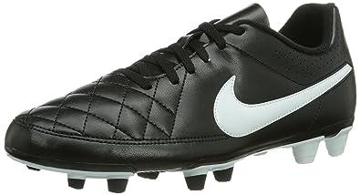 NIKE Mens Tiempo Rio II FG BlackWhite Soccer Cleat 7 Men US