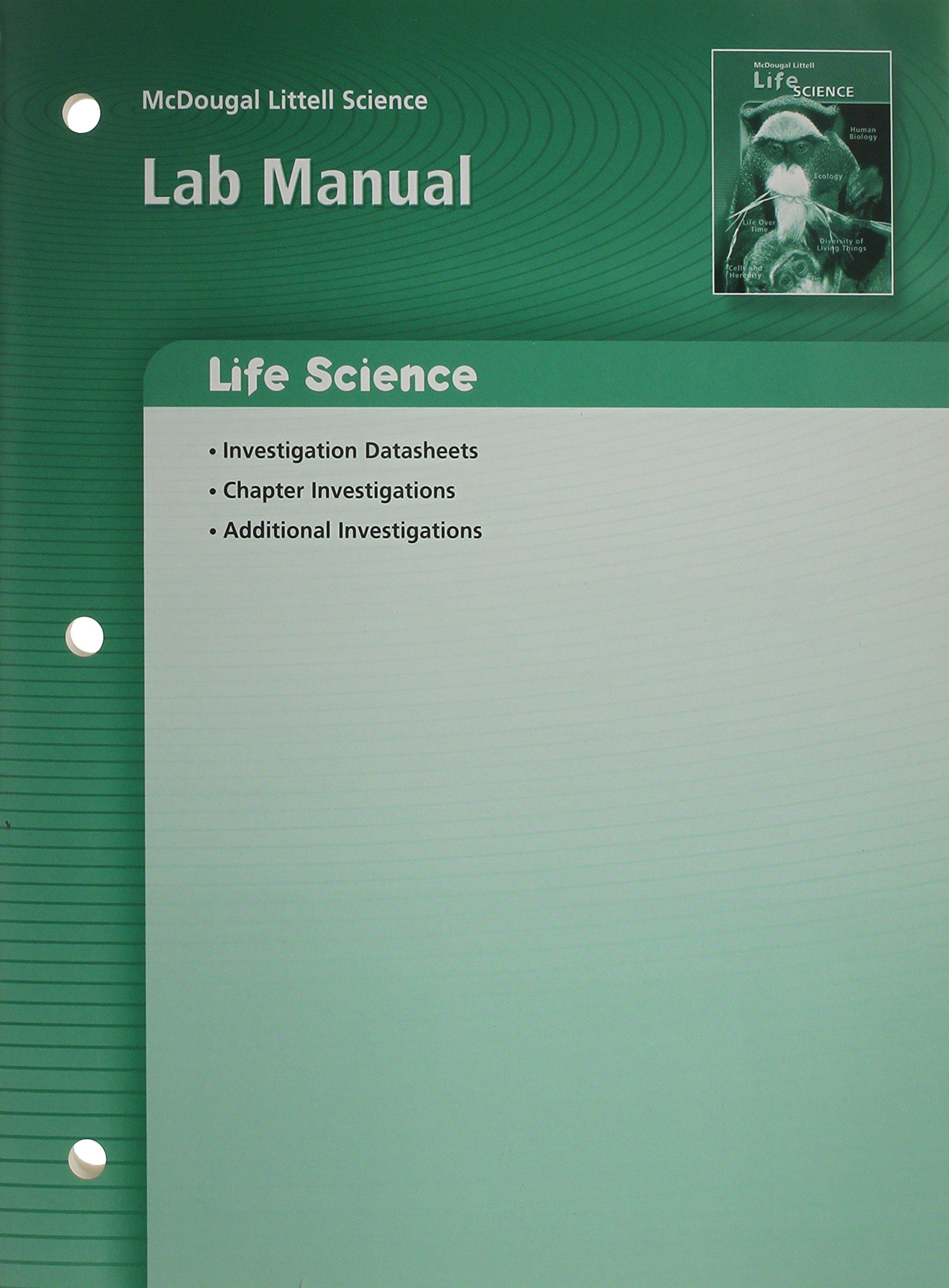 McDougal Littell Science: Life Science: Lab Manual: MCDOUGAL LITTEL:  9780618615360: Amazon.com: Books