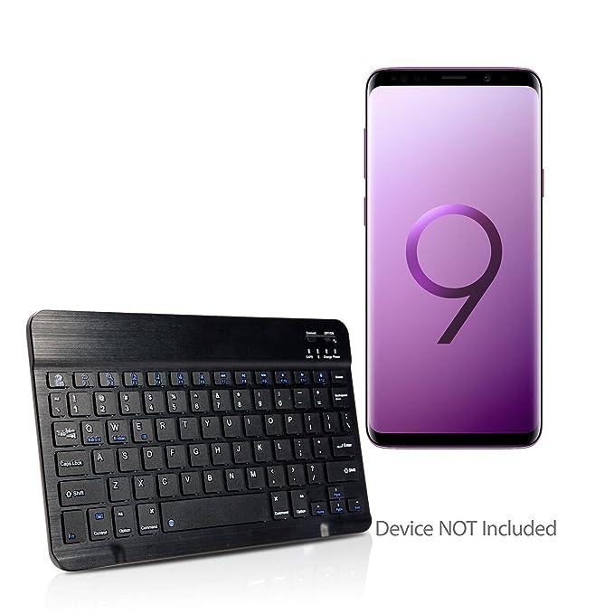 Samsung Galaxy S9 Plus Keyboard, BoxWave [SlimKeys Bluetooth Keyboard] Portable Keyboard with Integrated