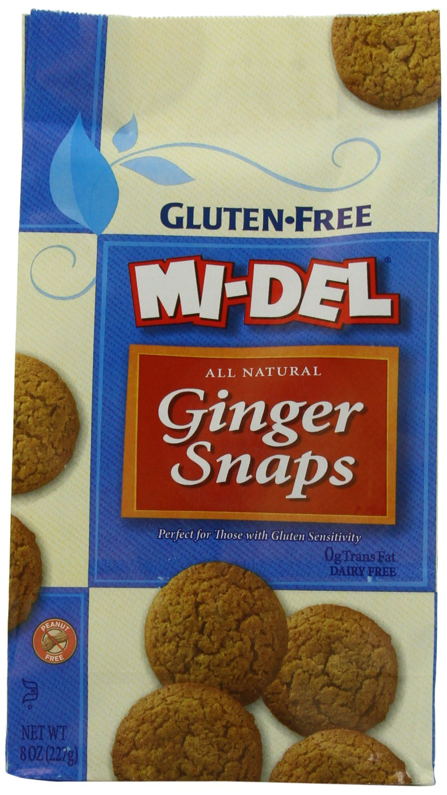 Mi-Del Gluten Free Cookies, Natural Ginger Snaps, 8 Ounce (Pack of 12) by Mi-Del