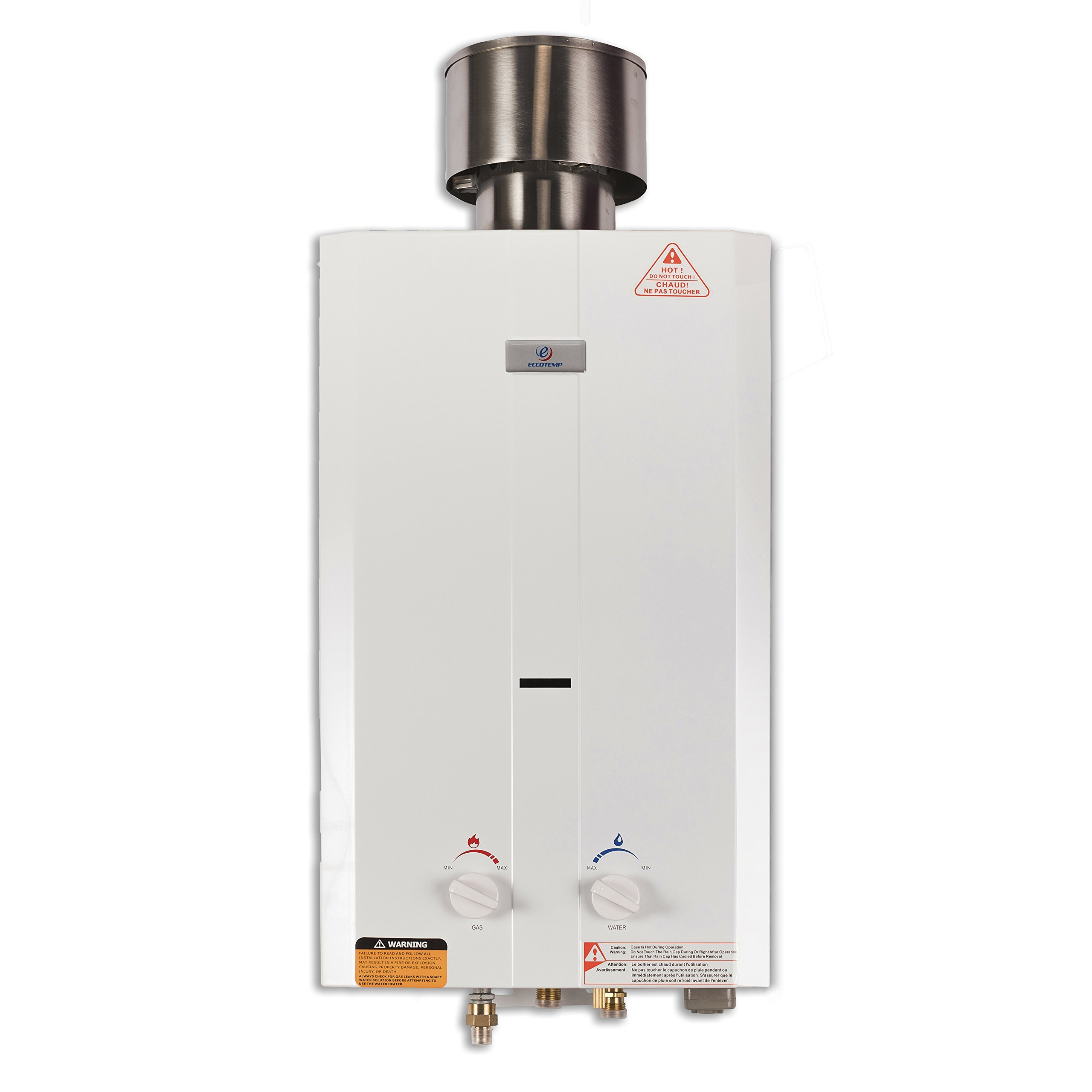 Eccotemp L10 2.6 GPM Portable Tankless Water Heater, 1 Pack, White by Eccotemp