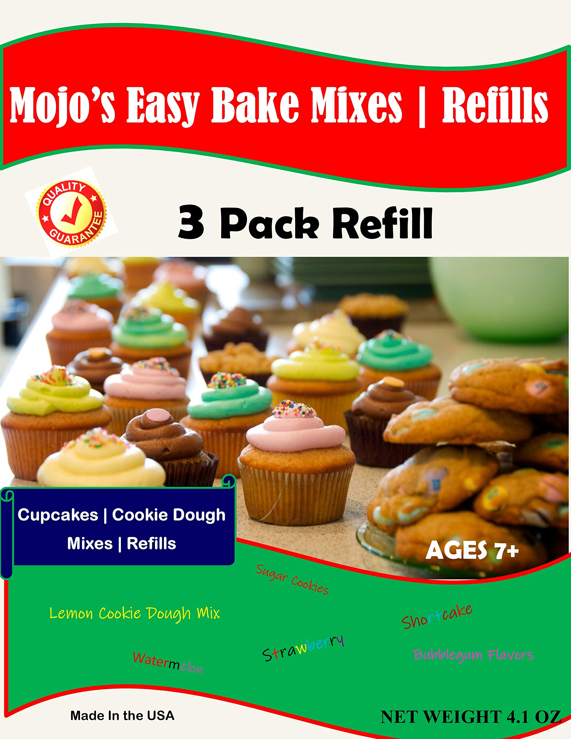 Mojo Stuff Galore Easy Bake Ultimate Oven Bubblegum and Strawberry Cakes Refill Packs by Mojo Stuff Galore