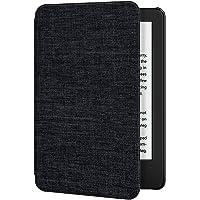 Ayotu Funda de Piel para Nuevo Kindle 10ª generación 2019-Material Textil Impermeable,Despertar/sueño automáticamente,Función magnética inversa(no se ajustará a Modelo de 2018),Negro