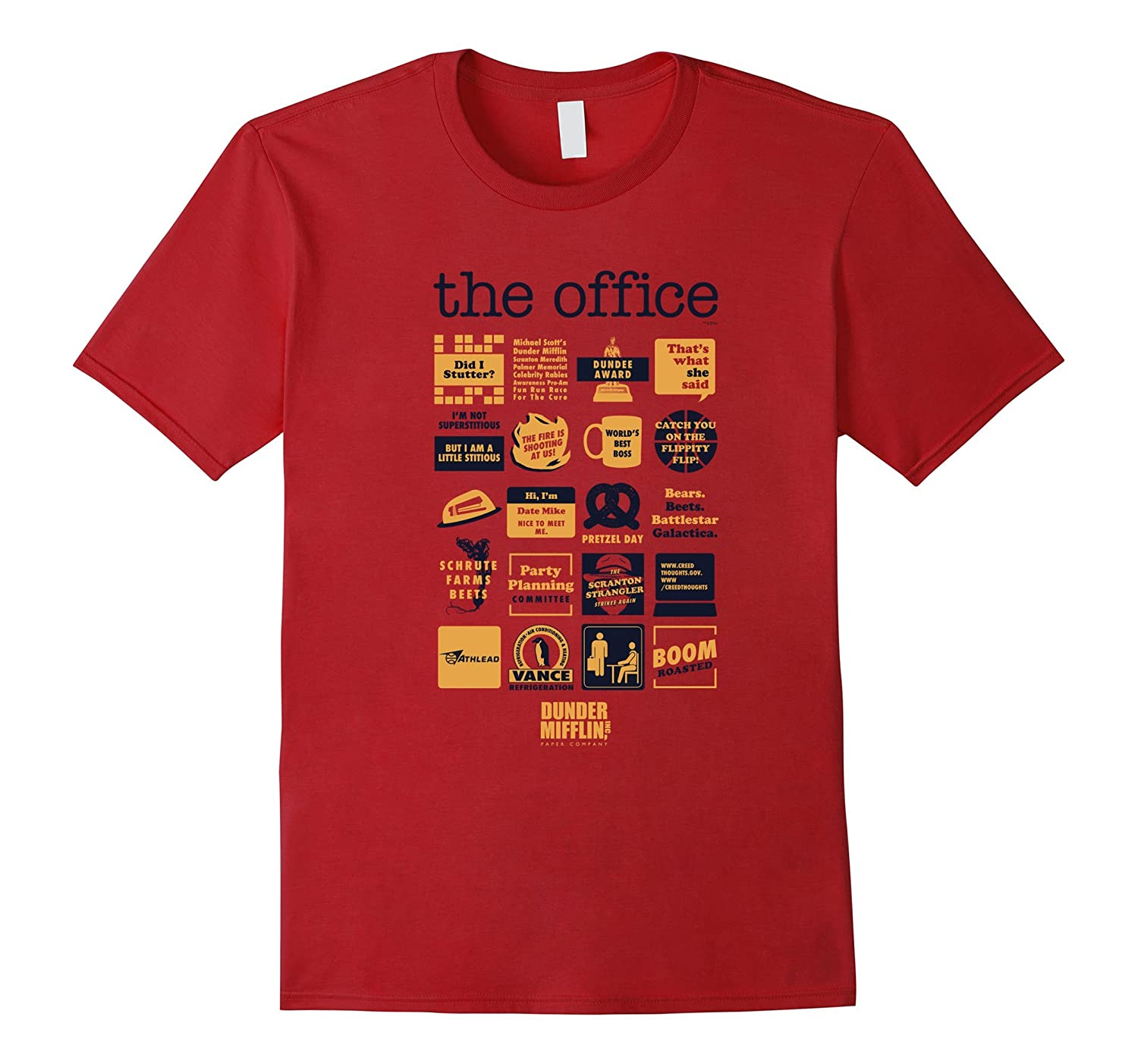 The Office Quote Mash-Up Funny T-Shirt - Official Tee-ah my shirt one gift
