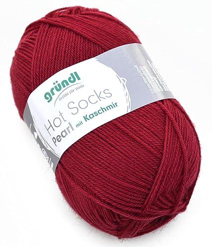 Gründl Hot Socks Pearl 14 Burdeos calcetines lana Merino y cachemira/lana de merino