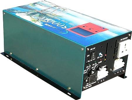 Version Mise /à Jour Convertisseur Pur Sinus 5000w//20000w Peak onduleur 12V /à 220V Onde sinuso/ïdale Pure Power Inverter,Convertisseurs /électriques//UPS//Chargeur de Batterie 80A,Version Mise /à Jour,AS3