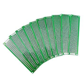 3x7CM Double Side PCB Board Lochrasterplatte Lochrasterplatine Leiterplatte Platine Aihasd 10Stk